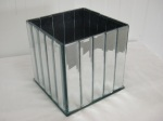 Glamour Mirrored Cube Vase 13cm £11.15 each