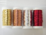 Reel Wires. Red, Gold, Silver, Copper. £4.25 per roll