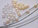 Threading Beads.  White & Ivory Pearl £2.80 per pack.