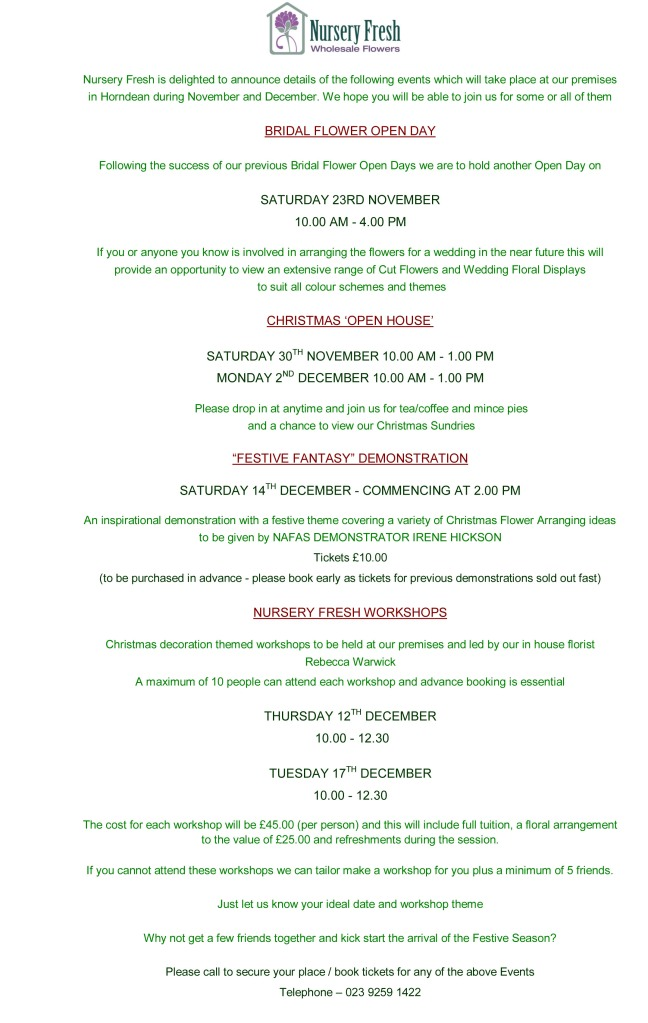 Nursery Fresh Christmas Events 2013 Website Copy (1)